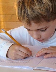 child-writing